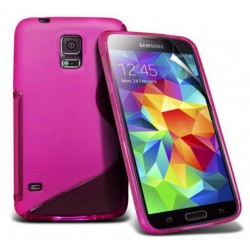 Pink Silicone Protective Case Samsung Galaxy S5 Active