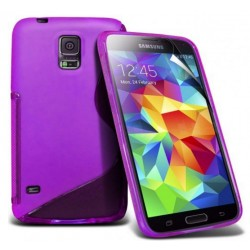 Purple Silicone Protective Case Samsung Galaxy S5 Active