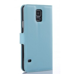 Samsung Galaxy S5 Active Blue Wallet Case