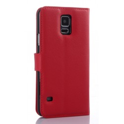Samsung Galaxy S5 Active Red Wallet Case