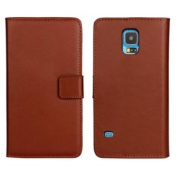 Samsung Galaxy S5 Active Brown Wallet Case
