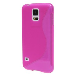 Pink Silicone Protective Case Samsung Galaxy S5 New