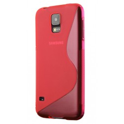 Red Silicone Protective Case Samsung Galaxy S5 New