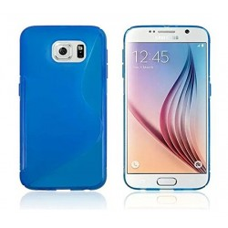 Blue Silicone Protective Case Samsung Galaxy S6