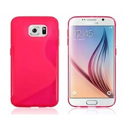 Pink Silicone Protective Case Samsung Galaxy S6