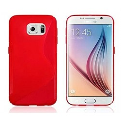 Red Silicone Protective Case Samsung Galaxy S6