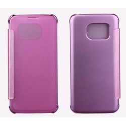 Etui Protection Led View Cover Rose Pour Samsung Galaxy S6