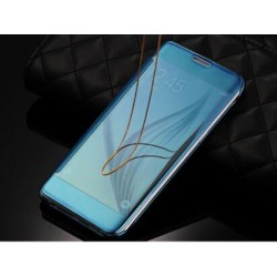 Etui Protection Led View Cover Bleu Pour Samsung Galaxy S6