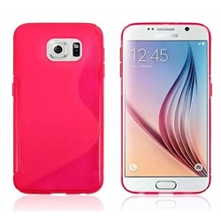 Pink Silicone Protective Case Samsung Galaxy S6 Edge
