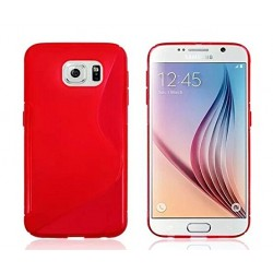 Red Silicone Protective Case Samsung Galaxy S6 Edge