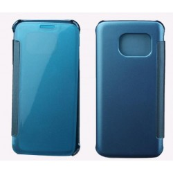 Etui Protection Led View Cover Bleu Pour Samsung Galaxy S6 Edge