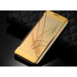Gold LED View Cover For Samsung Galaxy S6 Edge