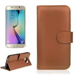 Samsung Galaxy S6 Edge Brown Wallet Case