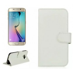 Protection Etui Portefeuille Cuir Blanc Samsung Galaxy S6