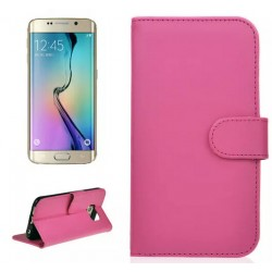 Protection Etui Portefeuille Cuir Rose Samsung Galaxy S6