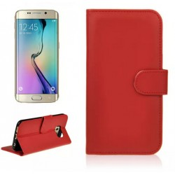 Protection Etui Portefeuille Cuir Rouge Samsung Galaxy S6