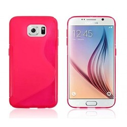Housse De Protection En Silicone Rose Pour Samsung Galaxy S6 Edge+