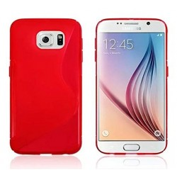 Red Silicone Protective Case Samsung Galaxy S6 Edge+