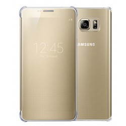 Gold LED View Cover For Samsung Galaxy S6 Edge+