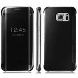 Etui Protection Led View Cover Noir Pour Samsung Galaxy S7