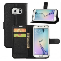 Samsung Galaxy S7 Black Wallet Case