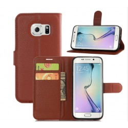 Protection Etui Portefeuille Cuir Marron Samsung Galaxy S7