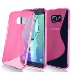 Pink Silicone Protective Case Samsung Galaxy S7 Edge