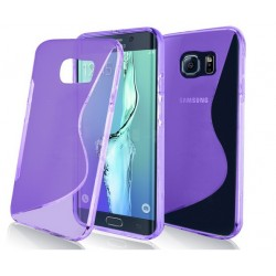 Purple Silicone Protective Case Samsung Galaxy S7 Edge
