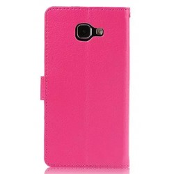 Protection Etui Portefeuille Cuir Rose Samsung Galaxy S7 Edge