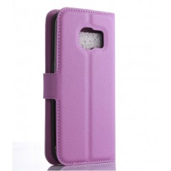 Protection Etui Portefeuille Cuir Violet Samsung Galaxy S7 Edge