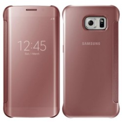 Etui Protection Led View Cover Rose Pour Samsung Galaxy S7 Edge