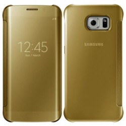 Gold LED View Cover For Samsung Galaxy S7 Edge