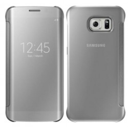 Etui Protection Led View Cover Argent Pour Samsung Galaxy S7 Edge
