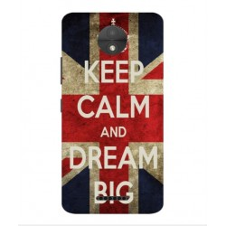 Coque Keep Calm And Dream Big Pour Motorola Moto C