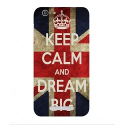 Coque Keep Calm And Dream Big Pour Cubot Dinosaur