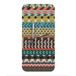 Coque Broderie Mexicaine Avec Horloge Pour Oppo A77