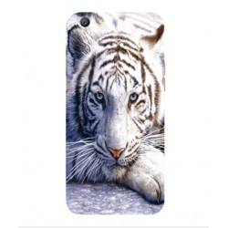 Oppo A77 White Tiger Cover