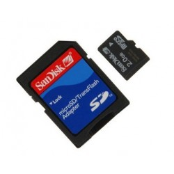 2GB Micro SD for Orange Dive 72