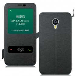 Black S-view Flip Case For Meizu MX6