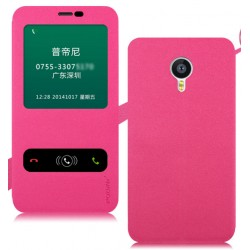 Etui Protection S-View Cover Rose Pour Meizu MX6