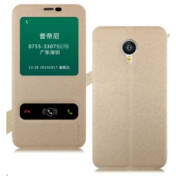 Etui Protection S-View Cover Or Pour Meizu MX6