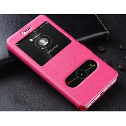 Pink S-view Flip Case For Huawei P10 Lite