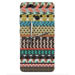 ZTE Nubia Z17 Mini Mexican Embroidery With Clock Cover