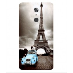 ZTE Max XL Vintage Eiffel Tower Case