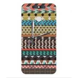 ZTE Blade V8 Lite Mexican Embroidery With Clock Cover