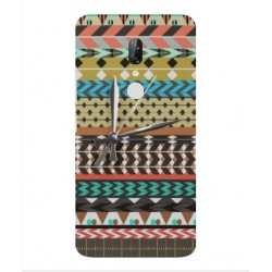 ZTE Axon 7s Mexican Embroidery With Clock Cover