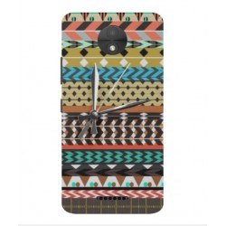 Motorola Moto C Plus Mexican Embroidery With Clock Cover