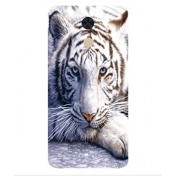Coque Protection Tigre Blanc Pour Huawei Enjoy 7 Plus