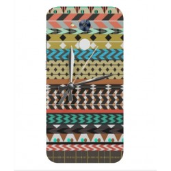 Huawei Honor 6A Mexican Embroidery With Clock Cover