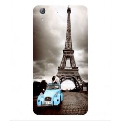 Coque Tour Eiffel Vintage Pour Huawei Y6II Compact